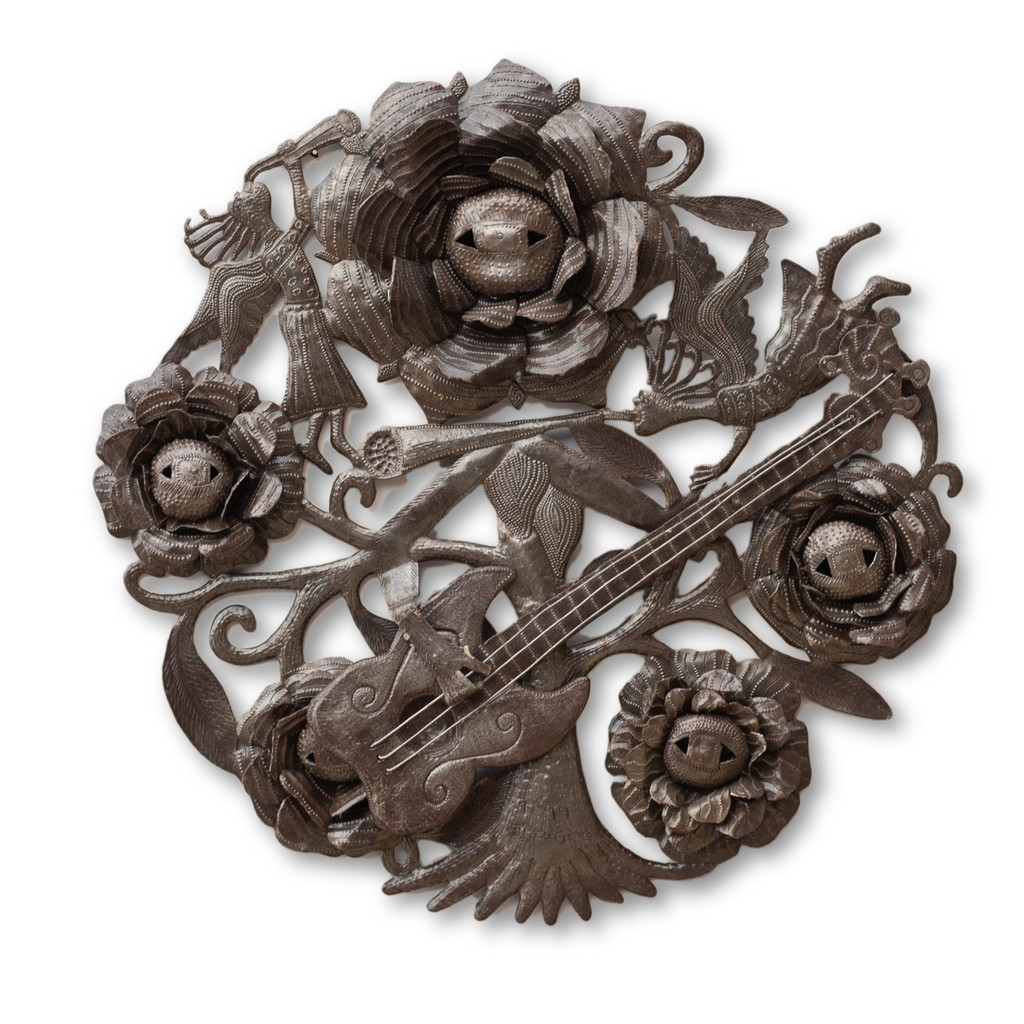 Flower Garden, Musician, Quality, Sturdy, Unique, Intricately, 3D Art, Sculpture, One-of-a-Kind, Limited Edition, Sustainable, Eco-Friendly, Recycle, Recyclable, Handmade, Handcrafted, Musical