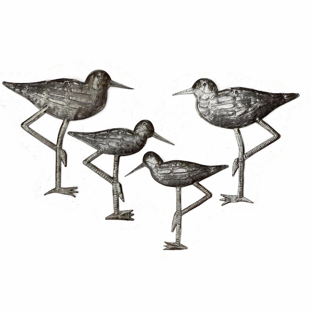 Sandpiper Coastal Birds, Ornamental Sea Birds, Decorative Home Art, Nature Inspired, Handmade in Haiti