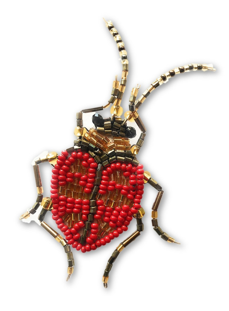 "Mayan Arts Beaded Bug, Ladybug Collection, with pin Attached, Jewelry, Seed Beads, Handmade in Guatemala 1"" x 2.5"" (Style 1) …"