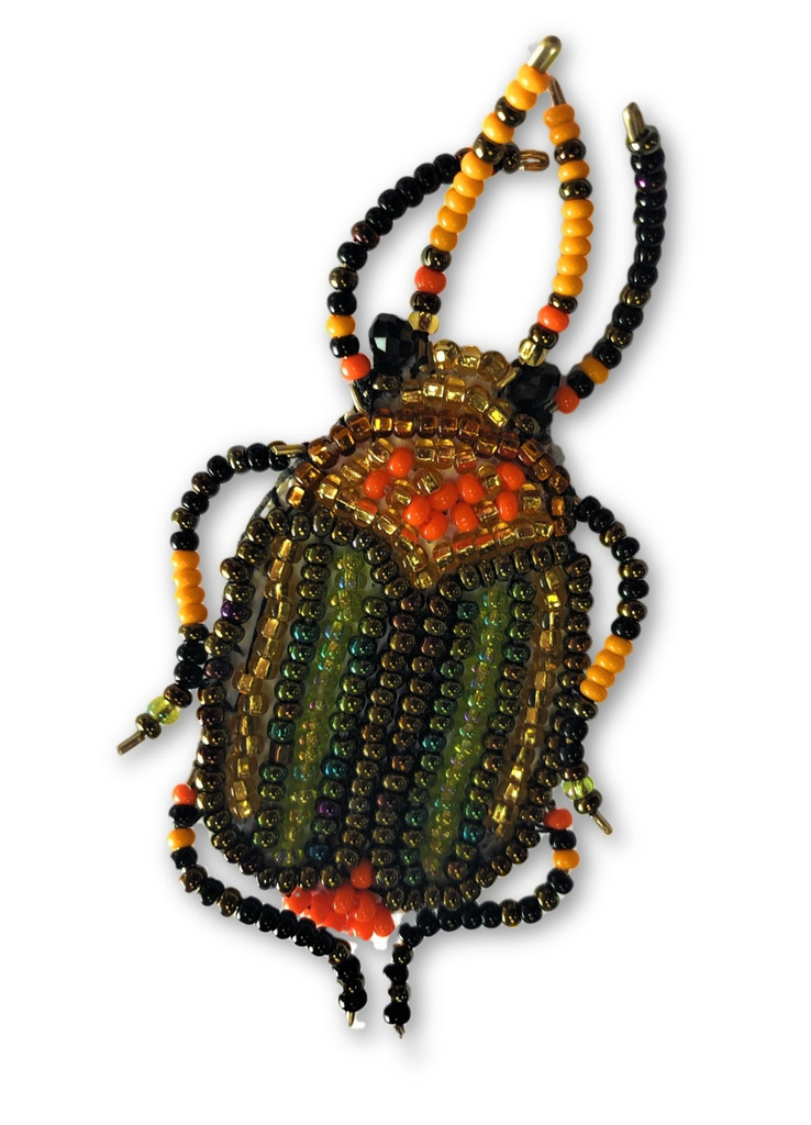 """Beaded Bug, Beetle Collection, with pin Attached, Handmade in Guatemala 1"""" x 2.5"""""""
