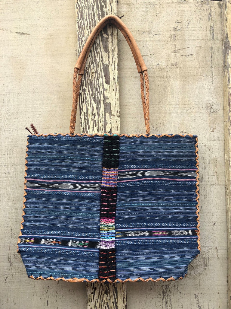 Women Purses and Handbags, Embroidered Recycled Ethnic Huipil Blouse, Jean Look, Handmade Purses from Guatemala