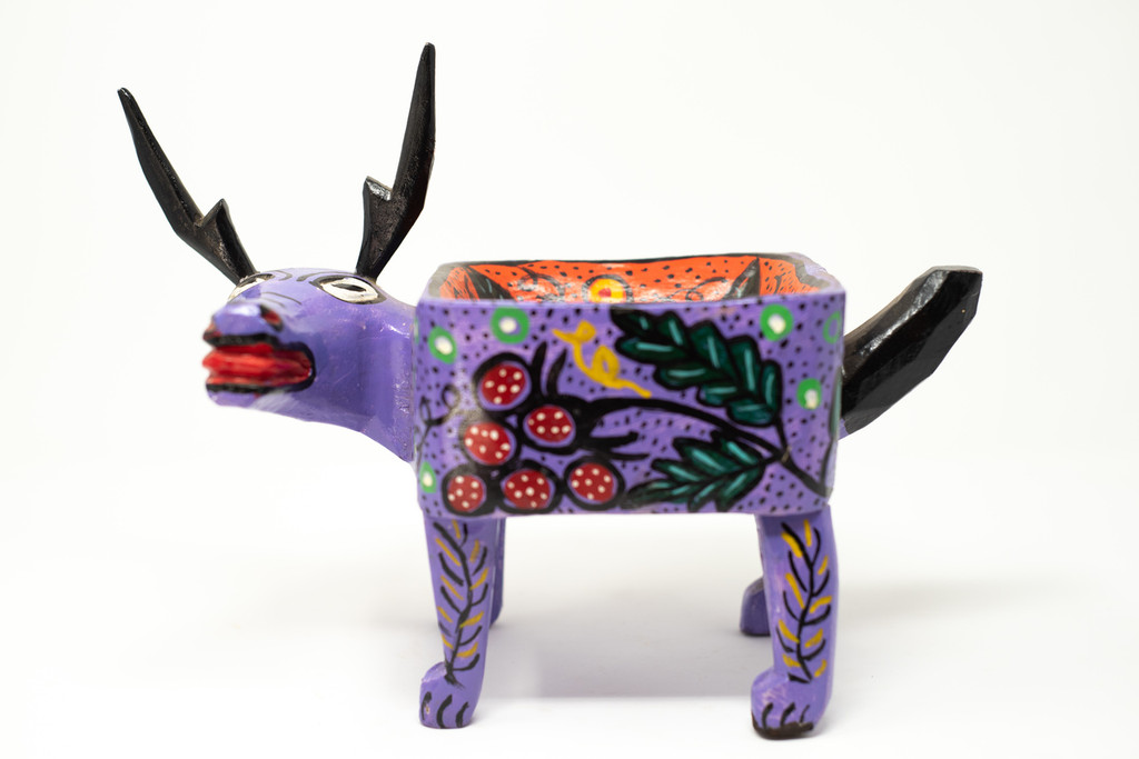 Whimsical Creature, Horns, Bull, Cow, Goat, Grapes, Colorful, Fruit Decor
