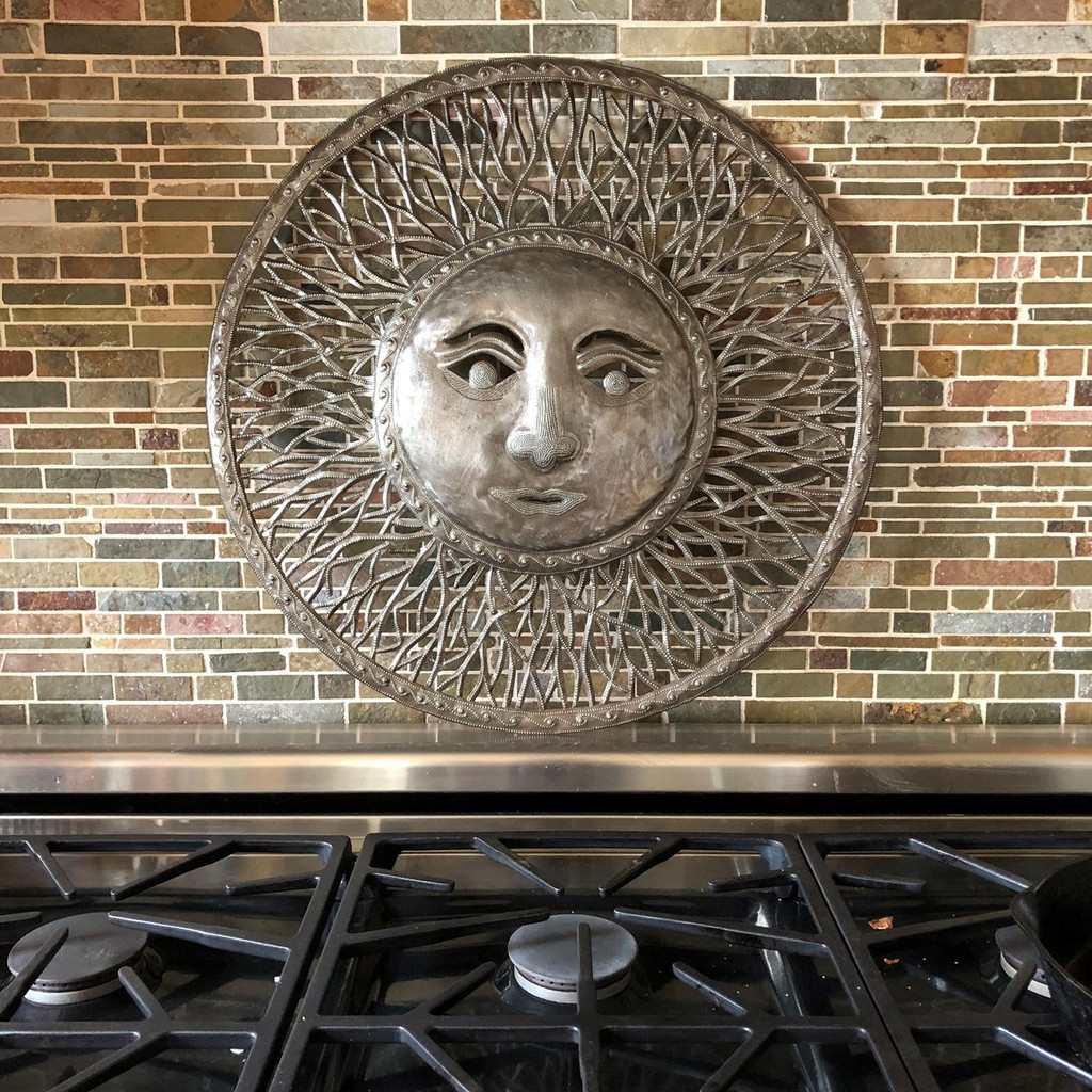 farmhouse metal art, sun