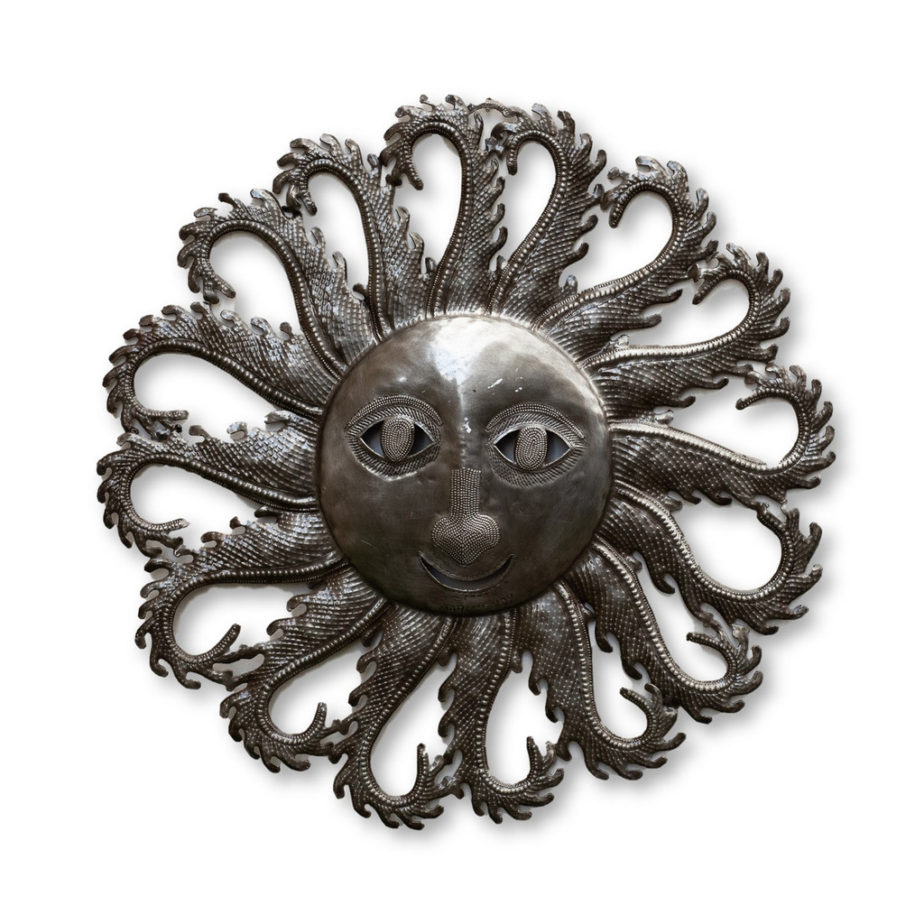 Sun, Flames, Flaming Sun, Summer, Spring, Fall, Winter, Garden, Home Decor, Interior Design, Rustic, Farmhouse, One-of-a-Kind, Fair Trade, Haiti