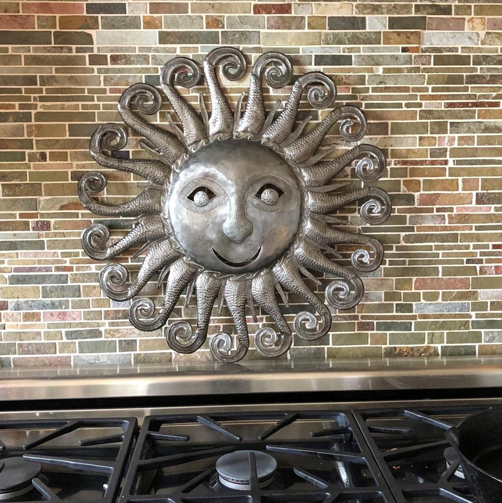 unique metal sun , wall decor