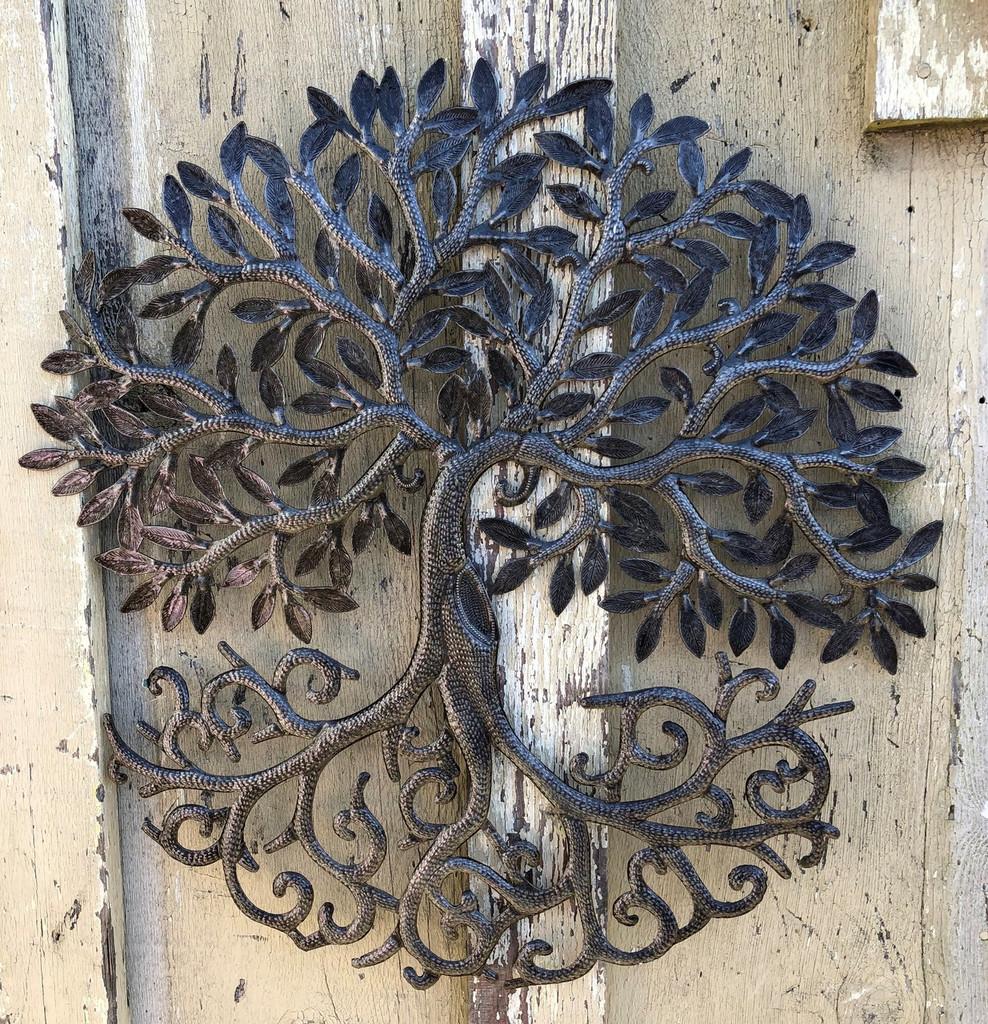 Farmhouse wall decor, recycled metal