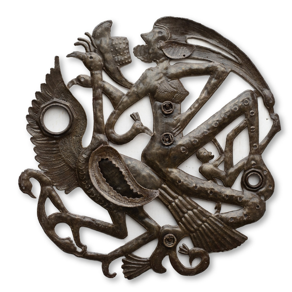 Voodoo Creature, Religious, Haitian Art, Sculpture, One-of-a-Kind, Limited Edition, Sustainable, Eco-Friendly, Fair Trade, Metal, Steel, Recyclable Art