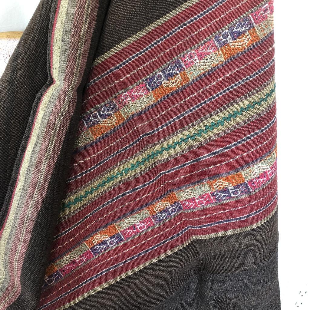"Llallagua Aguayo or  Manta Bolivia 41"" x 44"""