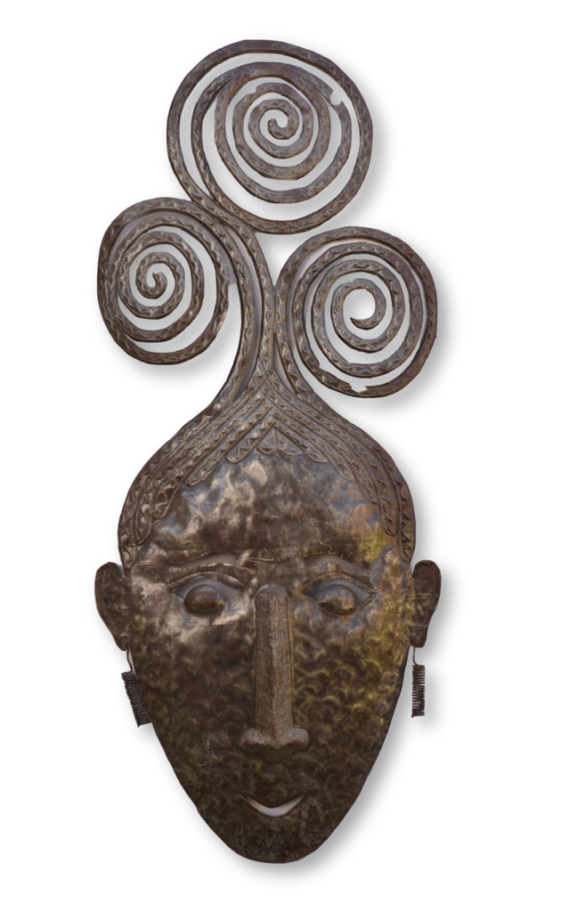 Hair, Mask, One-of-a-Kind, Limited Edition, Sustainable, Eco-Friendly, Handcrafted, Handmade, Earrings, Haiti, Haitian, Home Decor, Fair Trade