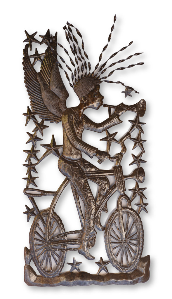 Bike Messenger, One-of-a-Kind, Angel, Stars, Sustainable, Eco-Friendly, Handcrafted, Handmade, Recycle, Recyclable, Fair Trade, Haiti