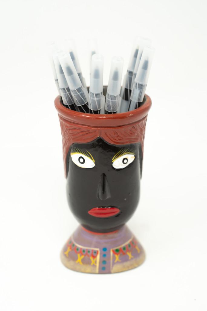 Pen Holder, Vase, Office Decor, Unique,