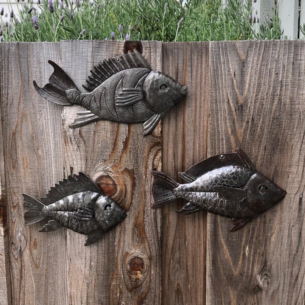 Haitian metal wall art sea life fish