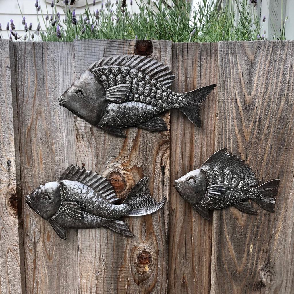 Haiti metal wall art , School of Fish
