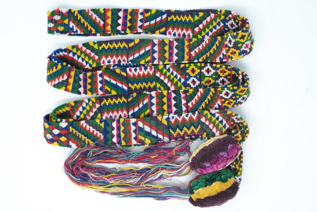 Traditional Zunil Guatemala, textile, belt, hair tie