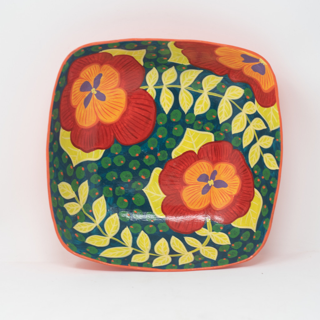 Flowers, Floral Art, Garden, Kitchen Decor, Dinnerware, Folk Art