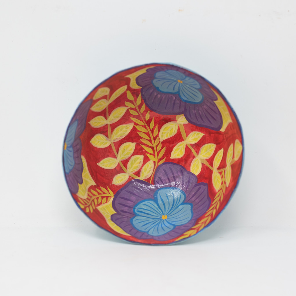 Bowl, Flowers, Floral Art, Handmade, Hand Painted, Handcrafted, Sustainable, Recyclable