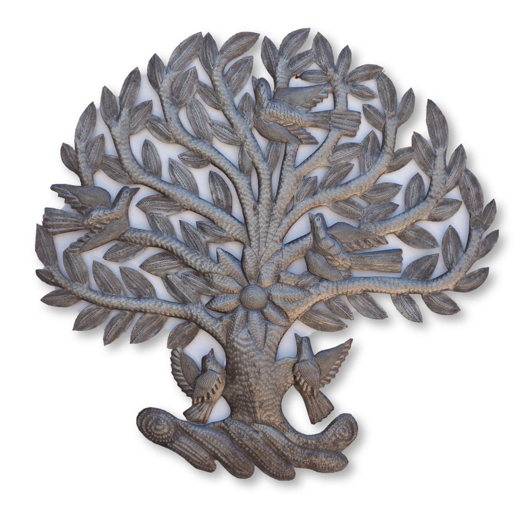 Tree of Life, Tree, Birds, Garden Decor, Home Decor,  Interior Design, Handcrafted, Handmade, Haiti, Haitian Art, One-of-a-Kind, Sustainable, Eco-Friendly, Limited Edition, Fair Trade