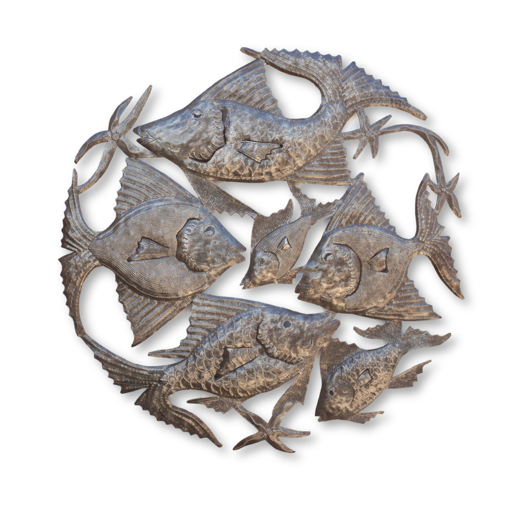 Fish, Sea Life, Its Cactus, Haiti Metal Art, One-of-a-Kind, Sustainable, Eco-Friendly, Handcrafted, Handmade, Limited Edition, Fair Trade
