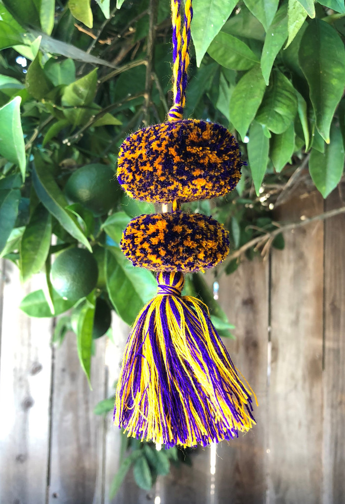 Mayan Arts Pom Pom Tassel, Set of 3 Charming Small Pom Poms Women's Fashion Hand Bags or Home Accent Decor Accessories, Handmade in Guatemala