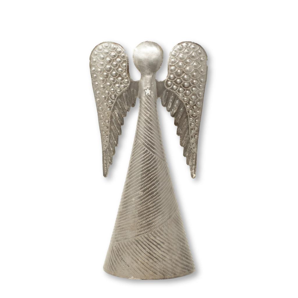 STANDING ANGEL METAL CHRISTMAS TABLE TOP DECOR HANDMADE FAIRTRADE SM1050
