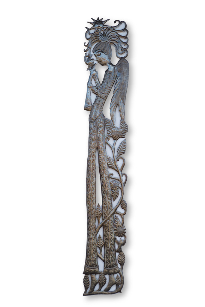 Angel, Music, Musician, Choir, Church Choir, Mystical Creature, One-of-a-Kind, Limited Edition, Sustainable, Eco-Friendly, Handcrafted, Handmade, Recycle, Recyclable, Metal, Steel, Home Decor, Interior Design, Garden, Spring, Decorations