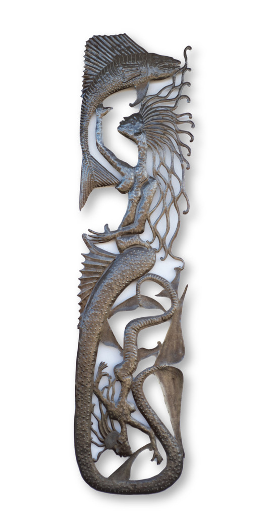 Mermaid, Mermaids, Nautical, Sea Life, Beach, Beach Home, Ocean, Sand, Fish, Julio Balan, One-of-a-Kind, Limited Edition, Sustainable, Eco-Friendly, Handcrafted, Handmade, Recycle, Recyclable, Metal, Steel