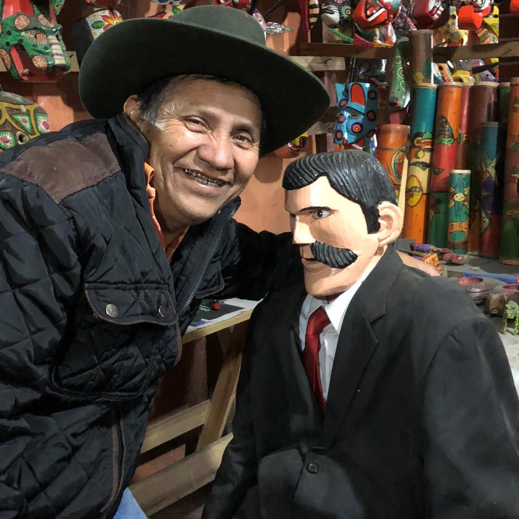 MAXIMON ARTIST CHICHICASTENANGO GUATEMALA