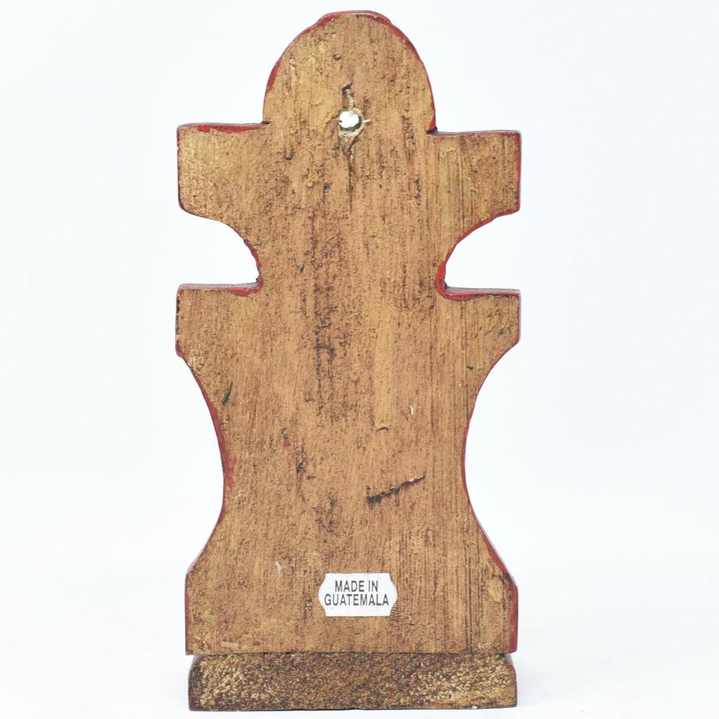 "Saint Alter, Praying, Hand Carved in Guatemala, Fair Trade Folk Art 7.5"" x 3.5"" x 3"" (blue)"
