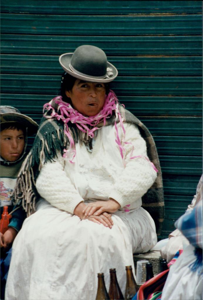 Aymara Women with Baby on Back, Bolivian Altiplano
