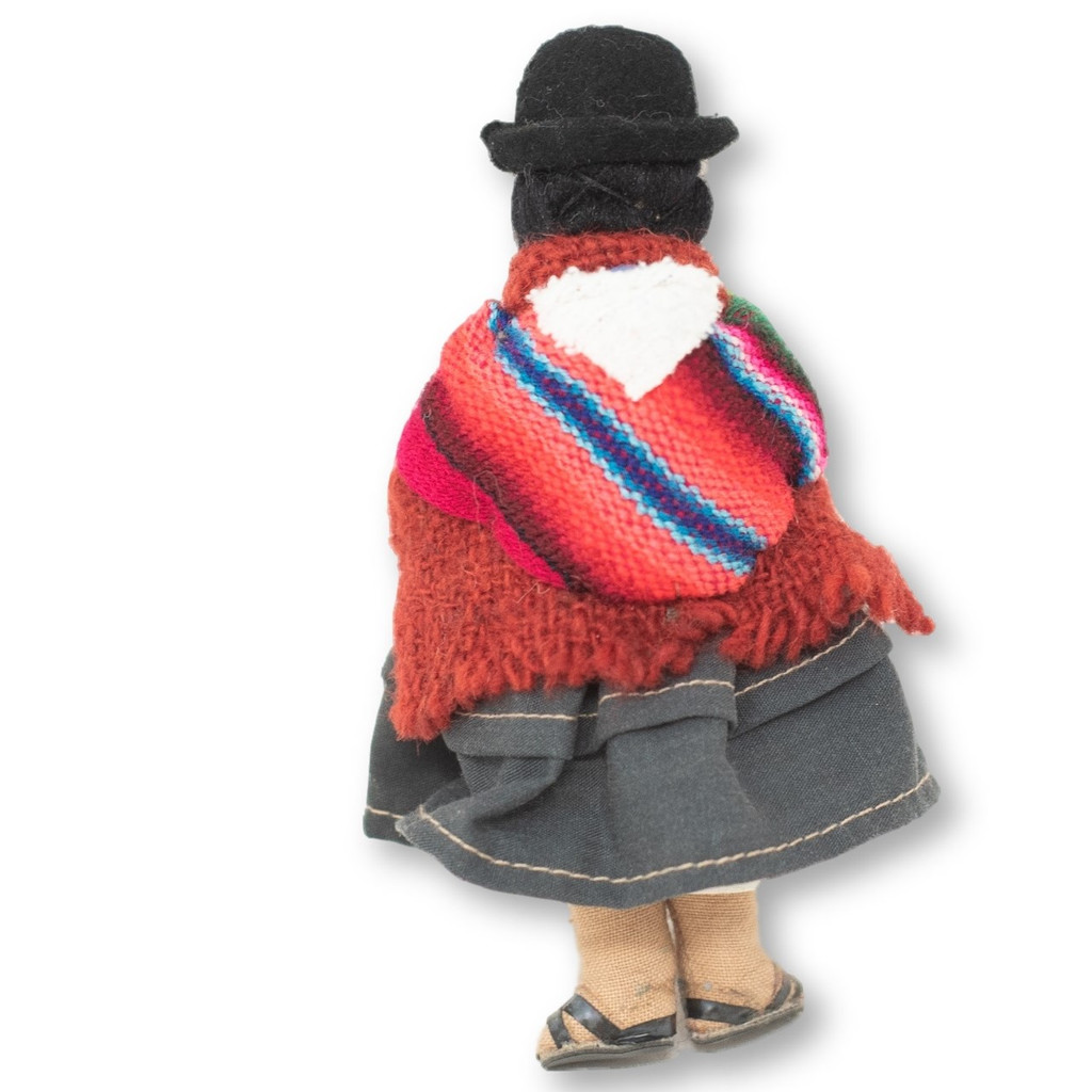 """Bolivian Cholita doll with a aguayo carrying her Baby 5"""" x 2"""" x 1.5"""""""