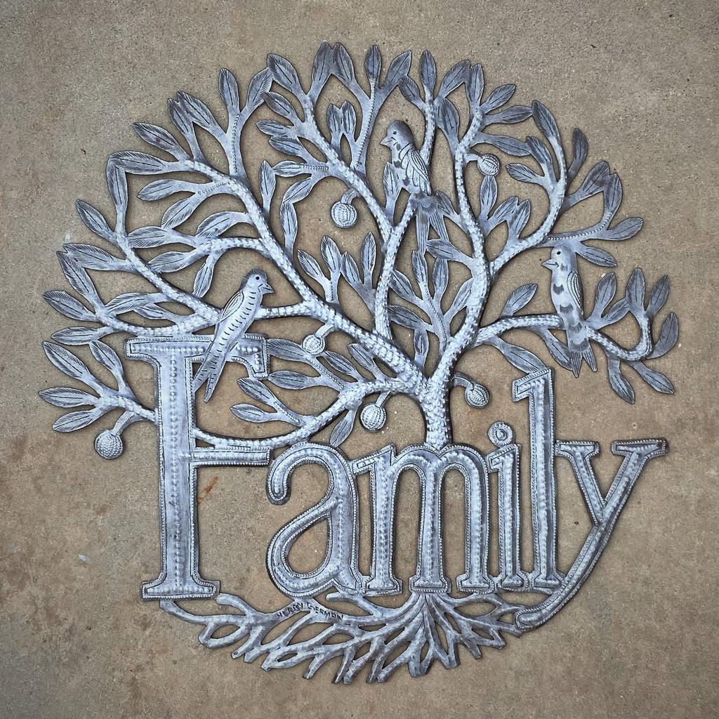 Haitian Metal Wall Decor, Family Tree