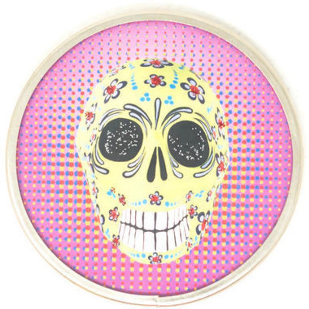 "Day of the Dead, Skull Mirror 2.75"""