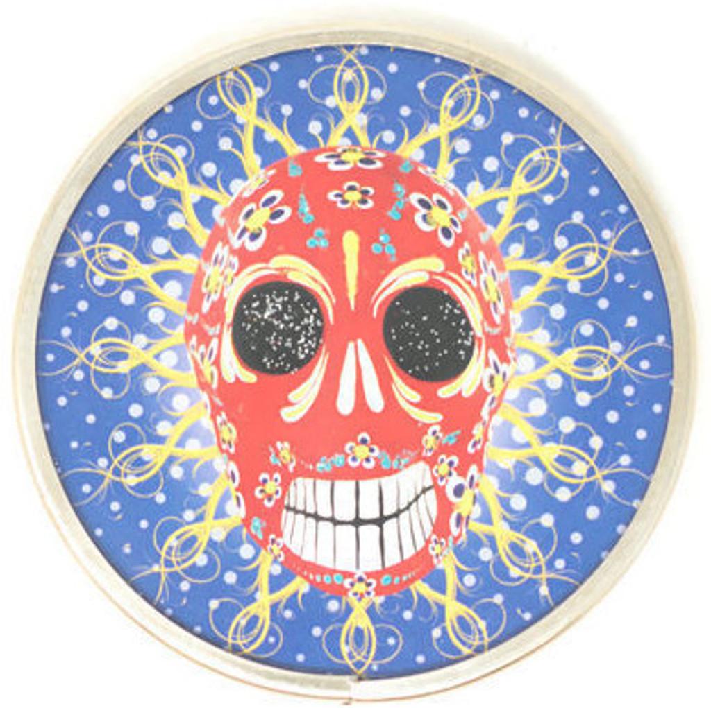 """Day of the Dead, Skull Pocket Mirror 2.75"""""""