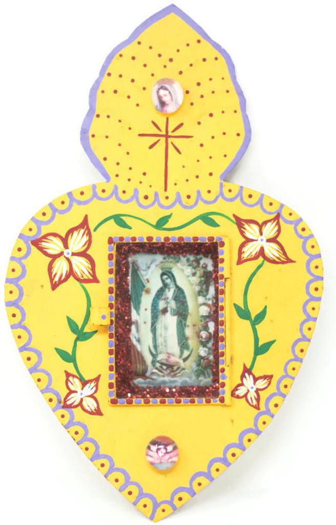 "Cielito Lindo Mexican Tin Nicho Niche Altar Virgin Guadalupe 6.5"" x 10.5"" x .75""Folk Art"
