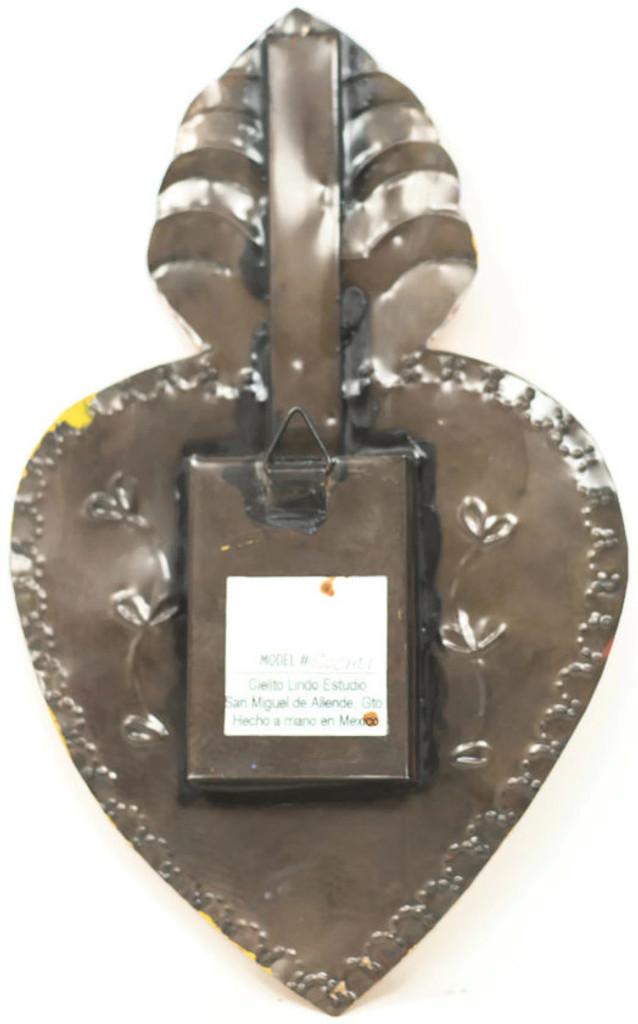 "Cielito Lindo Mexican Tin Nicho Niche Altar Virgin Guadalupe 6.5"" x  10.5"" x .75""Folk Art 51"