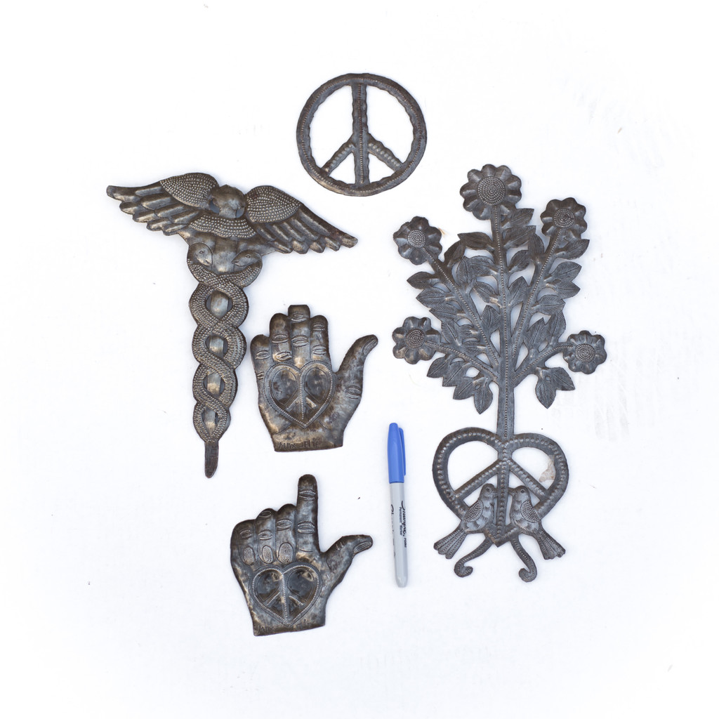 Peace, Love, Peace Sign, Flowers, Doctor's Staff, Handcrafted, Handmade, Sustainable, Eco-Friendly, Recycle, Recyclable, Metal, Steel