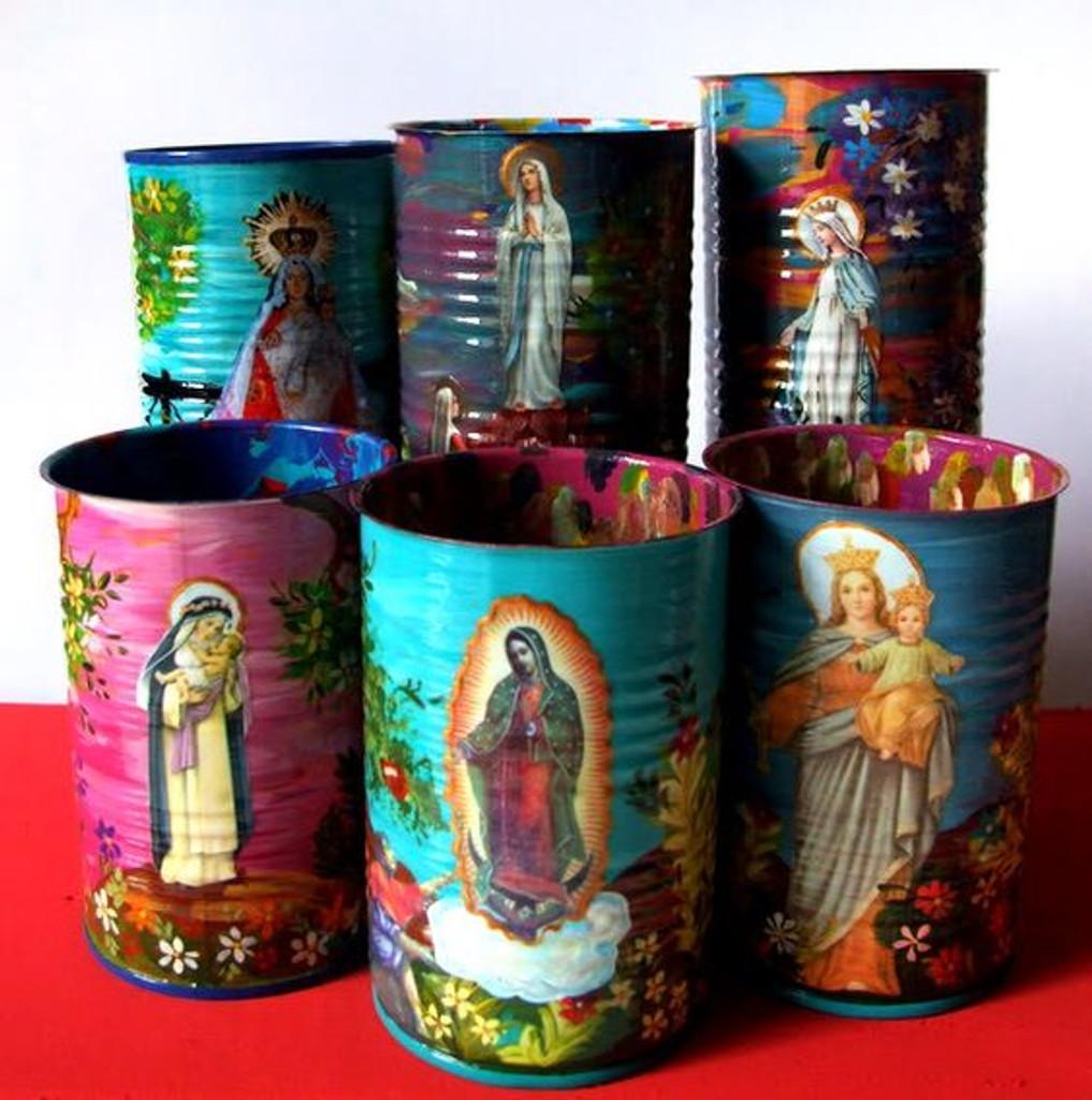 Recycled religious spiritual art
