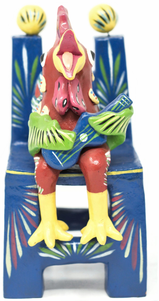 Rooster Playing Guitar Mexican Folk Art