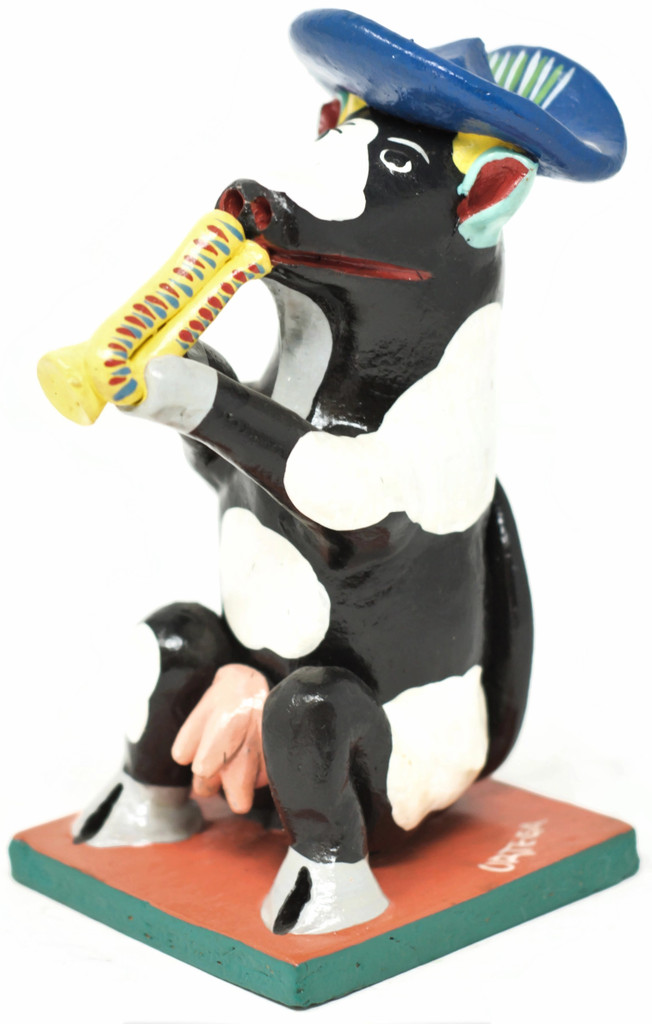 Mariachi Cow Playing the Trumpet