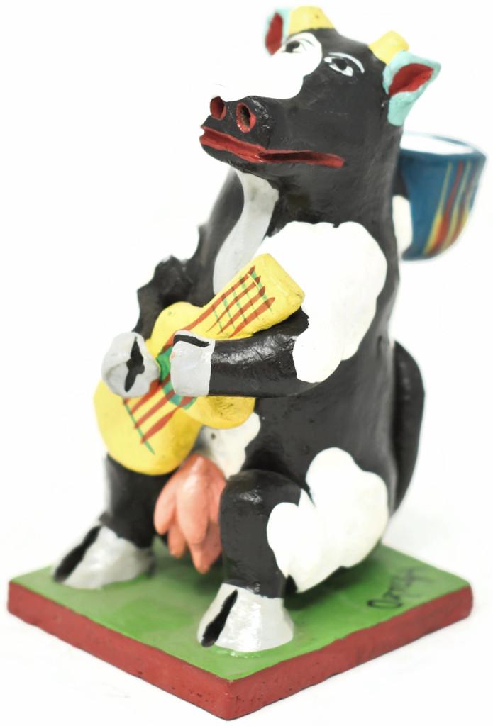 Cow Mariachi Candleholder