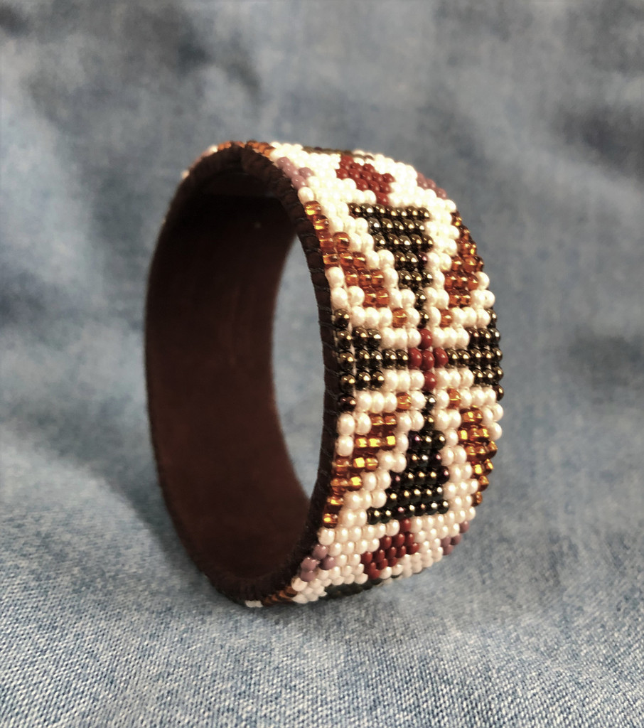 New Beaded Cuff, Brown Tones Bracelet, Handmade, Sparkly Beads, Western Jewelry, Casual Wear, Fits All
