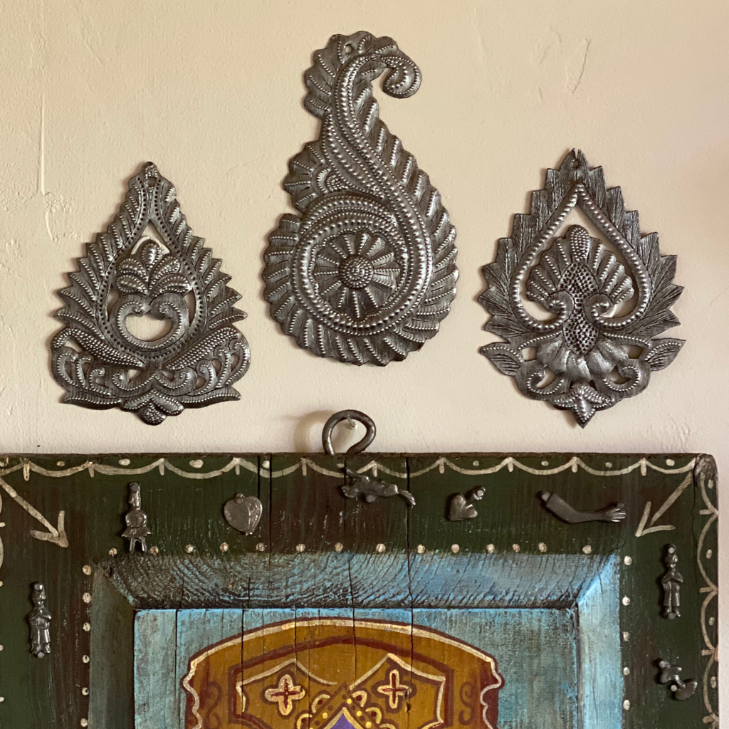 Handmade Paisley Accents, Embellishment for Home, Decoration for Christmas Tree