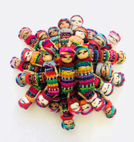 Worry Dolls, Fun Festive Decorative Figurines, Best Friends, Party Favors, Hope for Peace 1.5 Inches