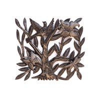 Birds, Tree of Life, Trees, Garden Tree, Upcycled, Metal, Steel, Leaves, Handmade, Roots