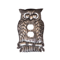 Owl Outlet Cover, Bird Outlet, Wise Bird Outlet, Bird on Branch