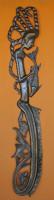 tall mermaid artwork, Haitian metal