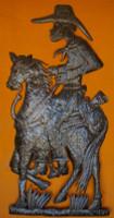 """Cowboy Metal Art - Full Barrel Sculpture- One of a Kind 32"""" x 72"""""""