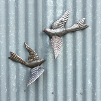 HAITI METAL ART BIRDS ON WALL