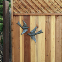 METAL BIRDS ON FENCE WALL ART HAITI
