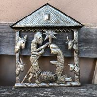 Haiti metal nativity Fair Trade Federation Metal Art at home